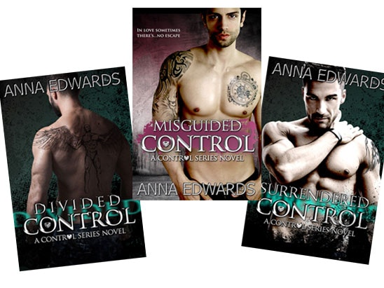 Control Series novels by Anna Edwards sweepstakes