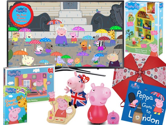 a Samsung TV & Peppa Pig goodies sweepstakes