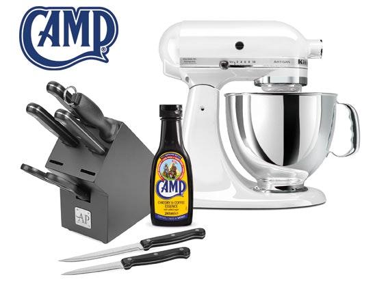 Win a KitchenAid Mixer, knife block set & Camp Coffee sweepstakes