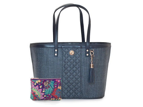 'CARRY ALL' DENIM TOTE AND MAKE UP PURSE FROM TAIKKA sweepstakes