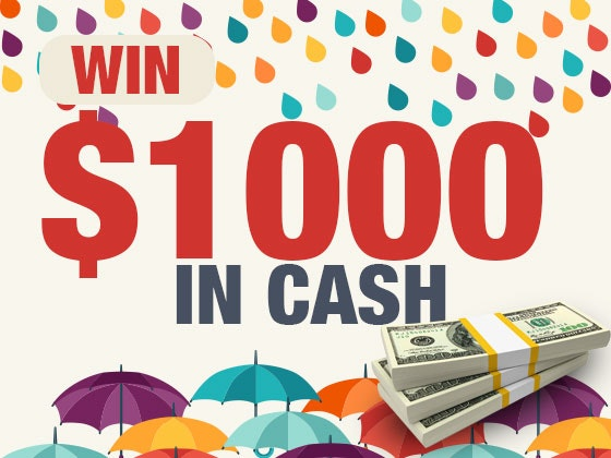 $1000 Cash April 2017 sweepstakes