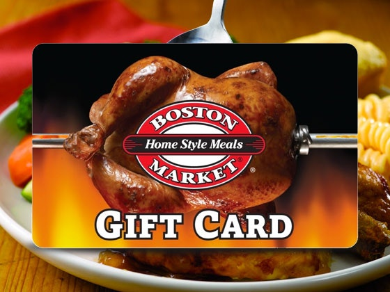 Boston Market Gift Card sweepstakes