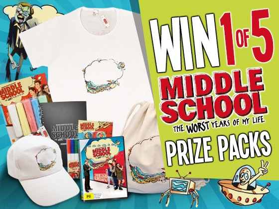 Middle School: The Worst Years of My Life Merchandise Pack sweepstakes