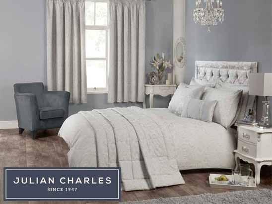Julian Charles Elegance Silver bedding set sweepstakes