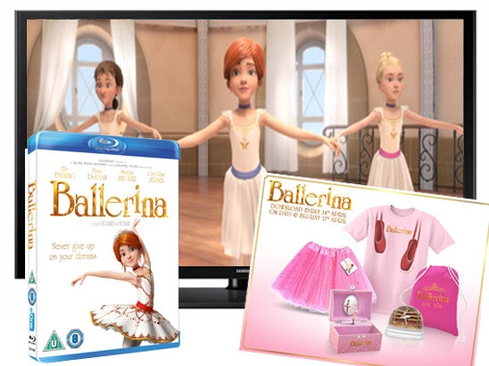 a Samsung TV, Ballerina Blu-ray and goody bag sweepstakes