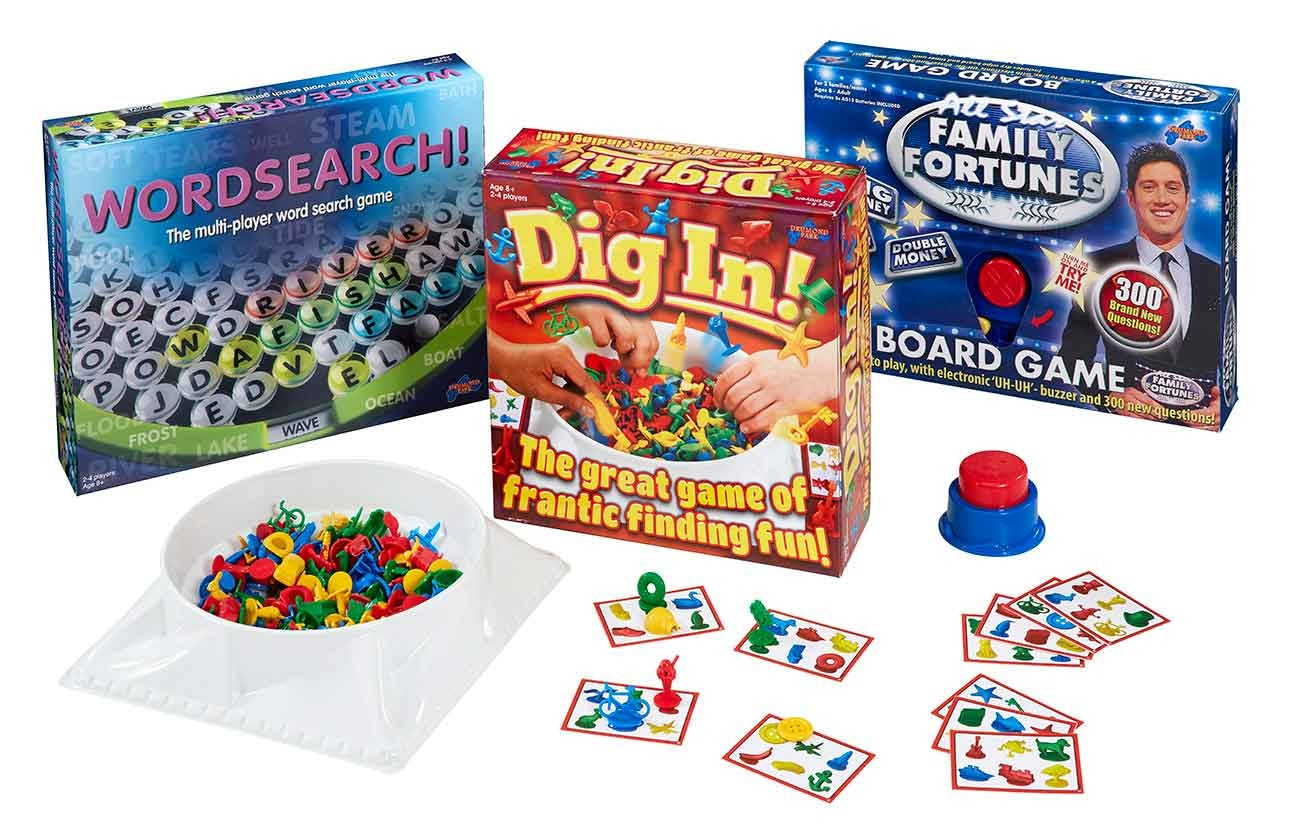 Dig In, All Star Family Fortunes and classic Wordsearch games sweepstakes
