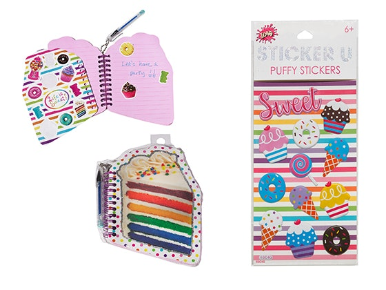 Rainbow Cake Notebook & Sugar Shack Puffy Stickers Bundle sweepstakes
