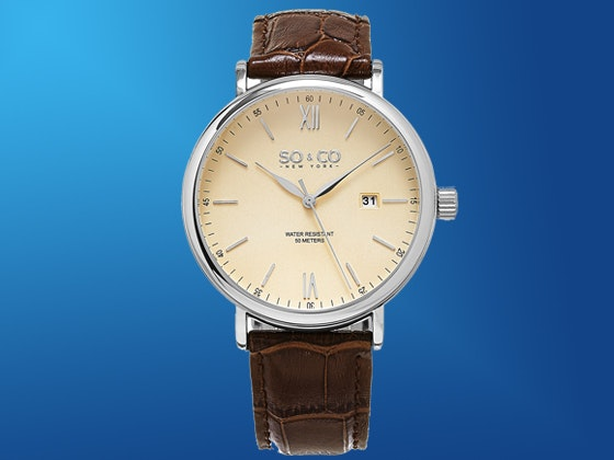 So&Co Madison Embossed Genuine Leather Strap Watch sweepstakes