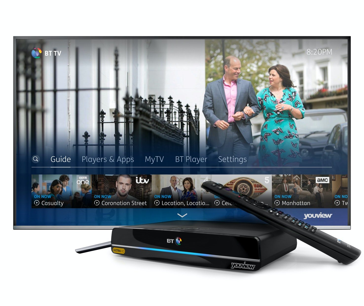 BT TV Ultra HD Box, 4K TV & a 12 month subscription to BT TV sweepstakes