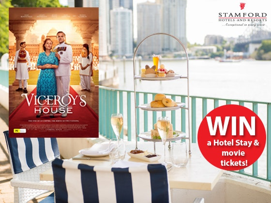 Stamford Hotel Melbourne, High Tea experience and a double pass to see Viceroy's House sweepstakes