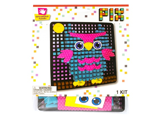 Owl Pixelated Craft Kit from Creative Hands sweepstakes