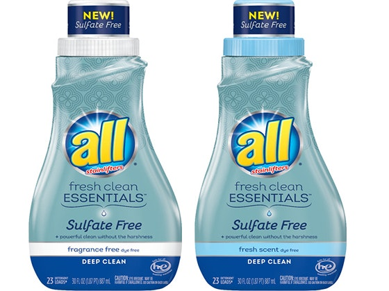 all® Fresh Clean ESSENTIALS® Detergent sweepstakes