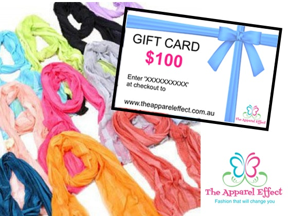 Apparel Effect $100 gift card sweepstakes