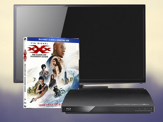 XXX: RETURN OF XANDER CAGE on Blu-ray Combo Pack + a Flatscreen TV & Blu-ray Player sweepstakes