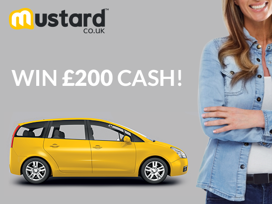 £200 cash with Mustard.co.uk  sweepstakes