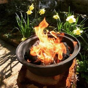 Outdoor hob flames