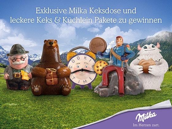 Exklusive Milka Keksdose zu gewinnen Gewinnspiel