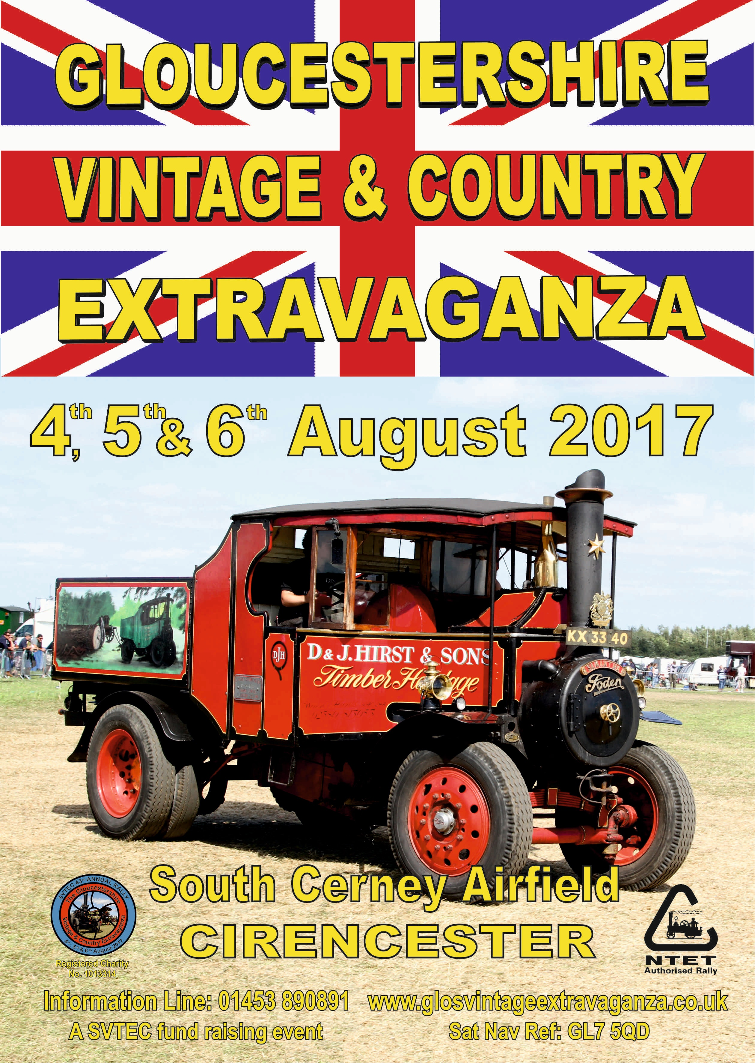Tickets to Gloucestershire Vintage & Steam Extravaganza 2017 sweepstakes