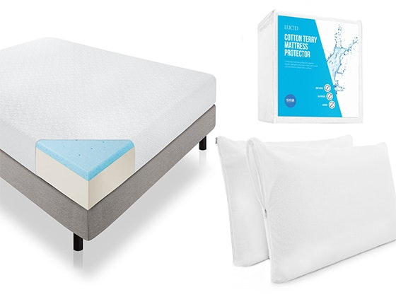 "LUCID 10"" Gel Memory Foam Mattress sweepstakes"