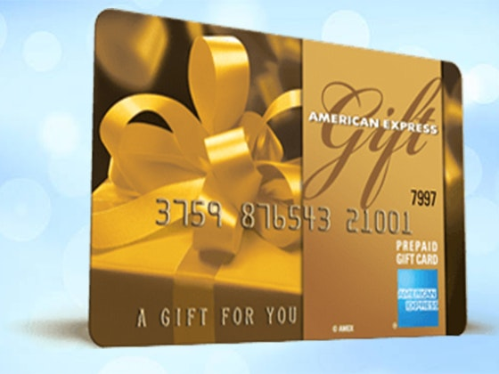 $100 AmEX Gift Card sweepstakes