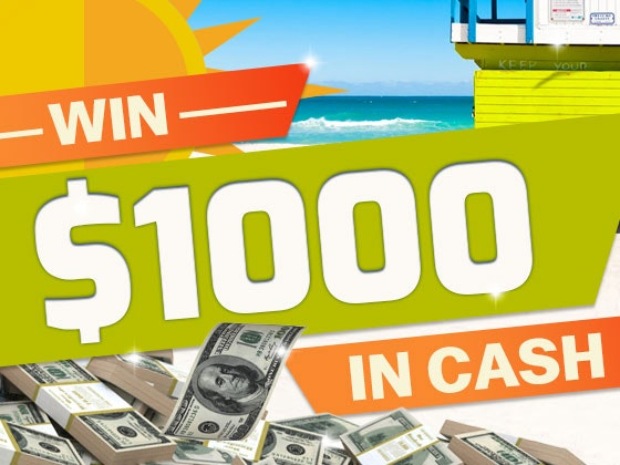 $1000 Cash June 2017 sweepstakes