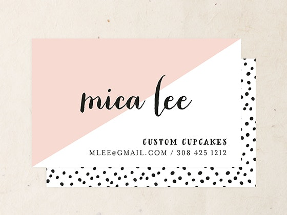Customized Business Cards from Minted sweepstakes