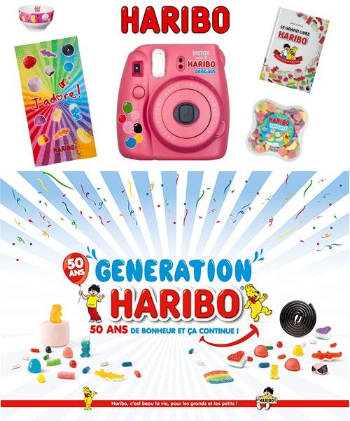jeu concours 9 lots de bonbons Yummy et 1 Maxi Lot pour les 50 ans d'Haribo