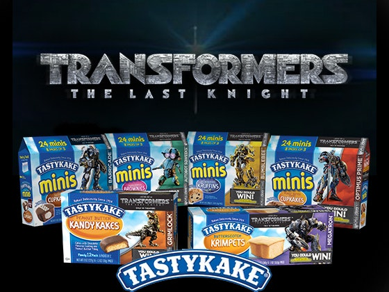 Tastykake treats & Tickets to TRANSFORMERS: THE LAST KNIGHT sweepstakes