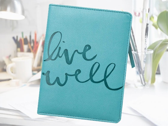 Live Well Zip-Up Journal from Mind Fuel Nest sweepstakes