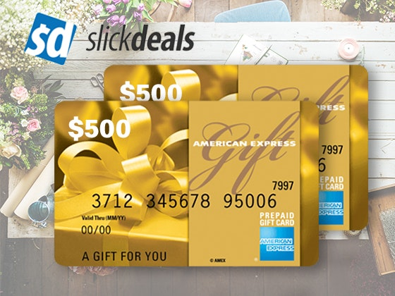 $500 Amex Gift Card from Slickdeals sweepstakes