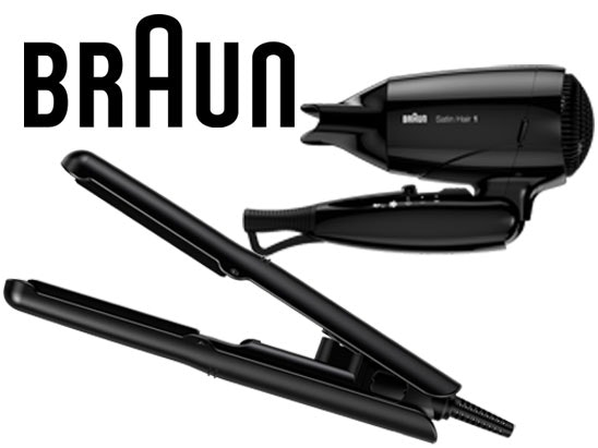 a Braun travel hairdryer & mini straighteners  sweepstakes
