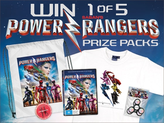 Power Rangers prize packs  sweepstakes