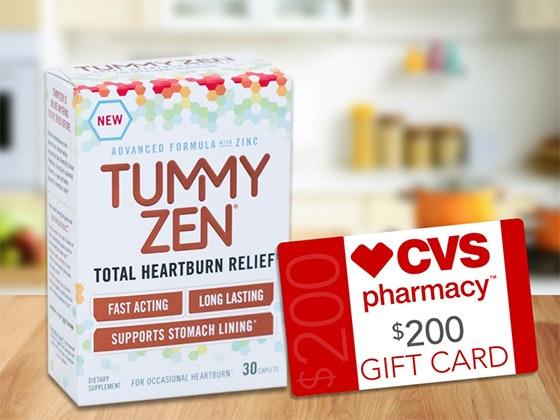 Tummy Zen & CVS $200 Card sweepstakes