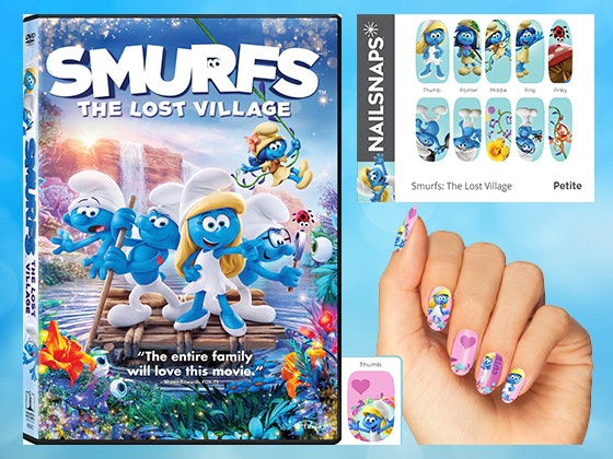 Smurfs nail snaps giveaway 1