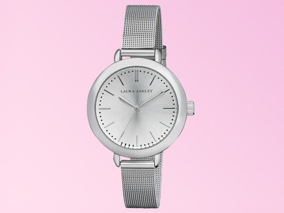Laura Ashley Silvertone Mesh Bracelet Watch sweepstakes