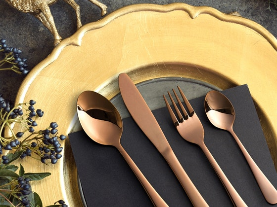 Milano Décor 32 Piece Stainless Steel Cutlery Set (Rose Gold) sweepstakes
