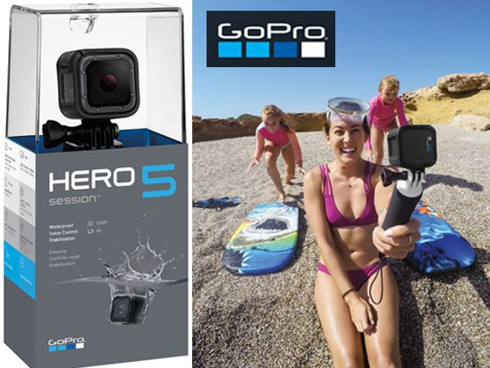 a GoPro HERO 5 Session camera  sweepstakes