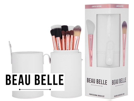 Beau Belle Limited Edition Rose gold Make-up Brush set sweepstakes