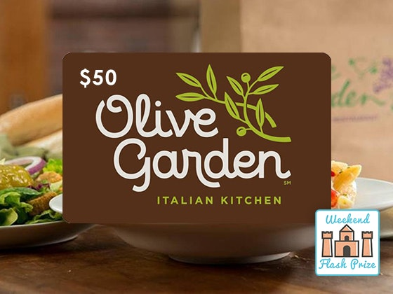 Olive garden weekend flash giveaway 1