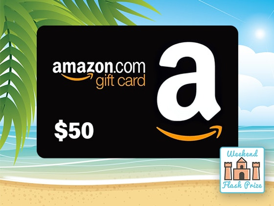 Weekend Flash Prize 7-28: Amazon Gift Card sweepstakes