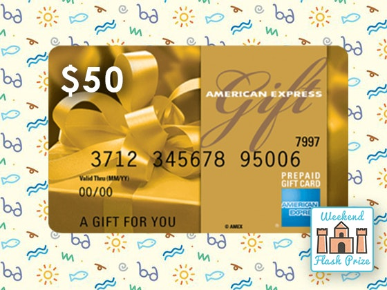 Amex weekend flash giveaway 1
