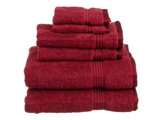 Affiniti 6 piece Egyptian Cotton Towel Set  (Red) sweepstakes