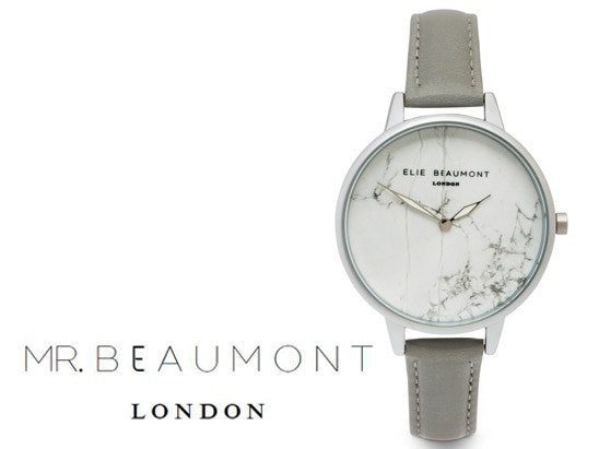 Elie Beaumont Richmond marble grey watch sweepstakes