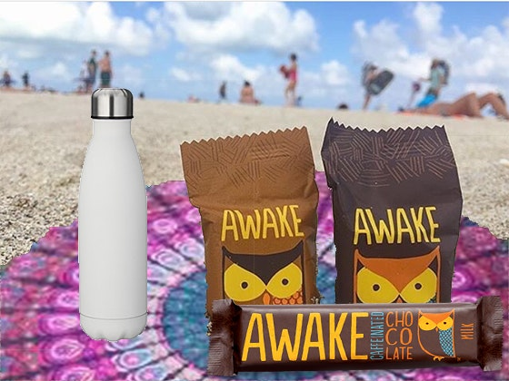 AWAKE Chocolate & Water Bottle + Round Towel sweepstakes