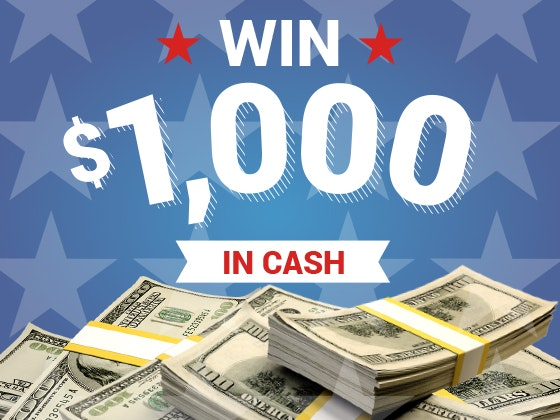 $1000 Cash July 2017 sweepstakes