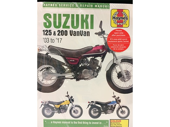 Haynes Suzuki VanVan 125 & 200 Manual (03-17) sweepstakes