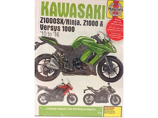 Haynes Kawasaki Z1000SX/Ninja, Z1000 & Versys 1000 (10-16) Manual sweepstakes