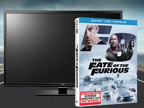 "32"" LG LED TV + The Fate of the Furious on Blu-ray Combo Pack sweepstakes"
