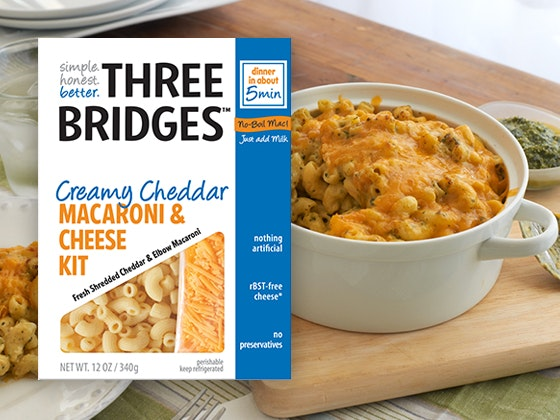Three Bridges Mac and Cheese Prize Package sweepstakes