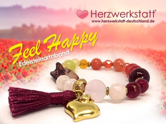 HERZWERKSTATT Feel Happy-Armband  Gewinnspiel